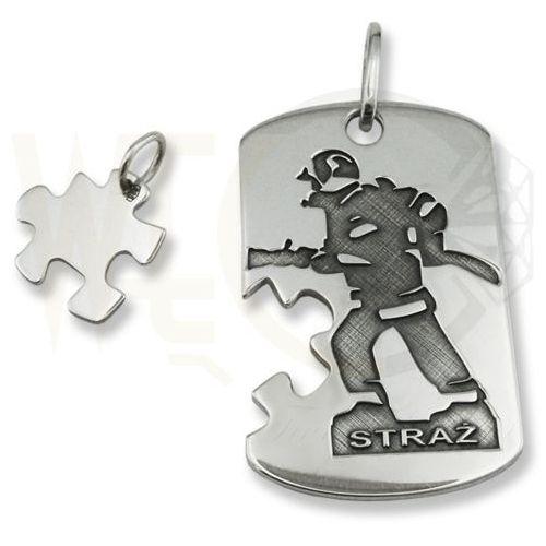 Nieśmiertelnik ze srebra z wizerunkiem zawodu strażaka wec-s-nw-zaw marki Węc - twój jubiler