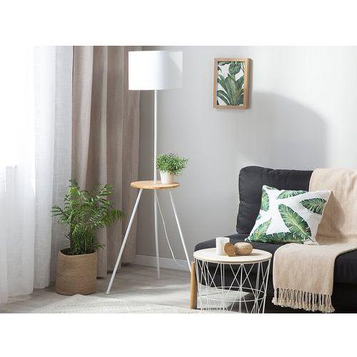 Beliani Lampa stojąca biała 148 cm braddon (4251682201377)