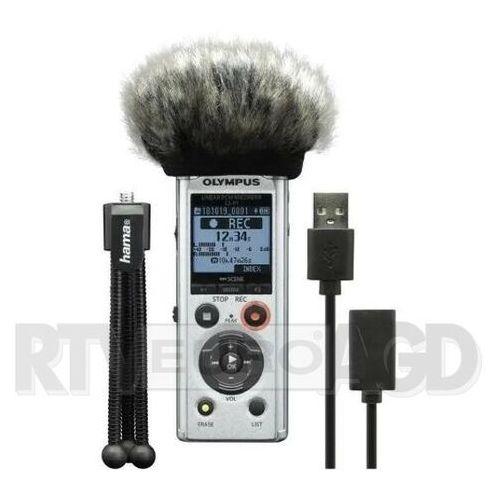 Olympus ls-p1 podcaster kit (mini statyw, osłona przeciwwiatrowa, przewod usb do pc jako interfejs audio) (4046628268671)