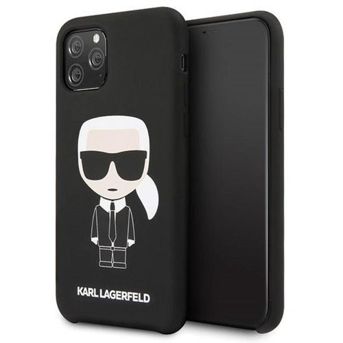 Karl Lagerfeld KLHCN58SLFKBK iPhone 11 Pro hardcase czarny/black Silicone Iconic, kolor czarny
