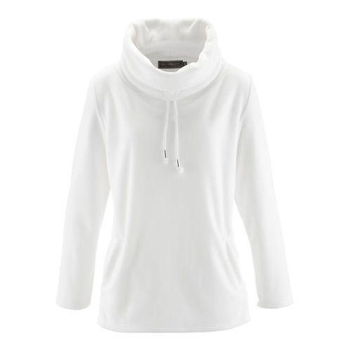 Sweter z polaru bonprix biel wełny