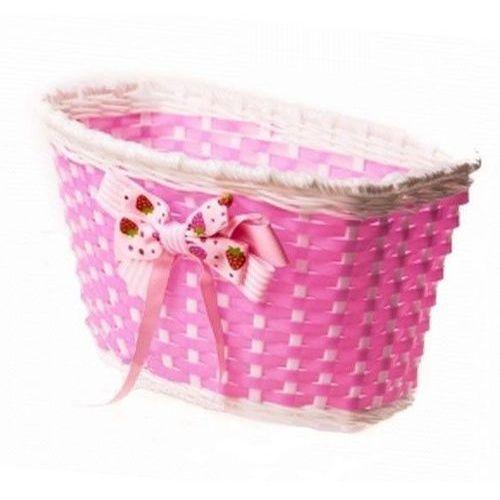 Koszyk na przód dziecięcy 175040 F różowy z kokardą