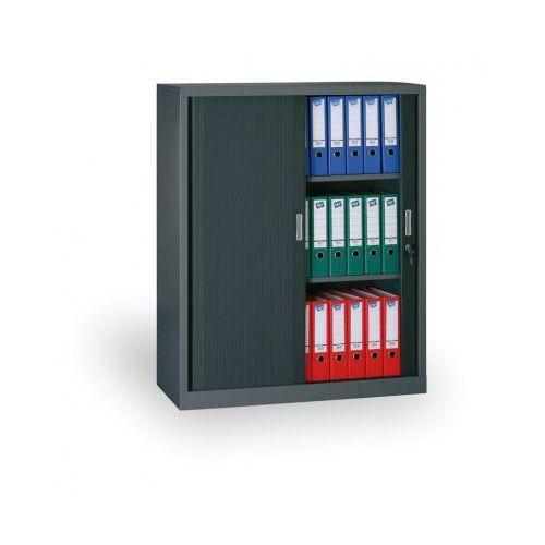 Szafa metalowa z żaluzjowymi drzwiami, 1200x1200x450 mm, ciemnoszary marki B2b partner