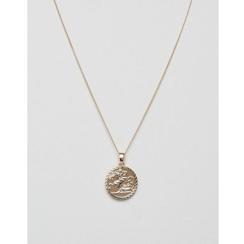 Chained & Able Sovereign medallion necklace in gold - Gold