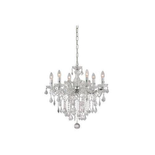 Ideal lux  35628 - żyrandol kryształowy florian sp6 cromo 6xe14/40w/230v
