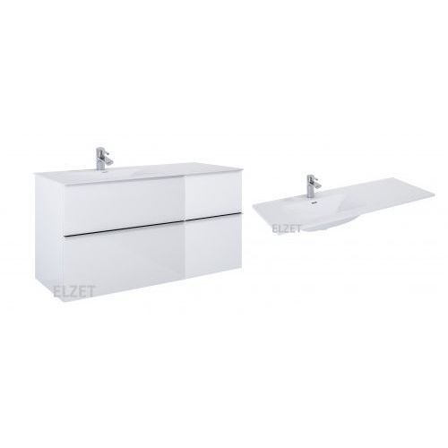 szafka look 2s white + kontener z szufladami + umywalka skappa 120 167081.167728.145915/145925 marki Elita