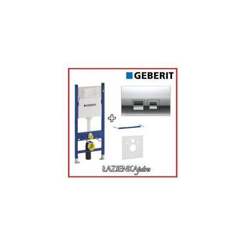 GEBERIT DUOFIX BASIC UP100 Zestaw 4W1 Stelaż podtynkowy do WC H112 + wsporniki + przycisk + uszczelka