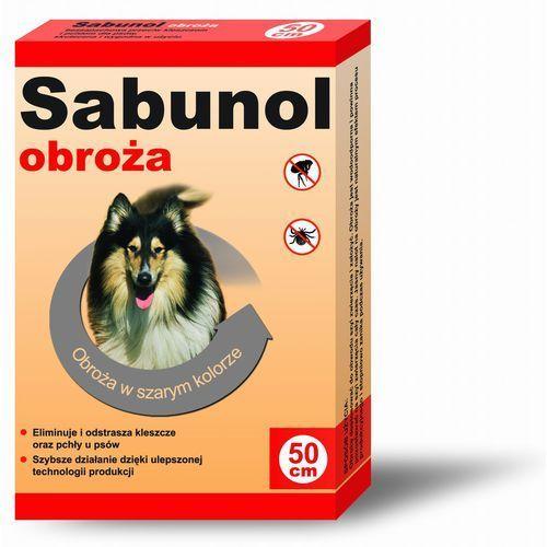 Sabunol szara obroża przeciw pchłom i kleszczom dla psa 75 cm - 75cm, 14409 (6648073)