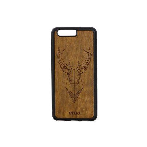 Huawei p10 - etui na telefon wood case - jeleń - imbuia marki Etuo wood case