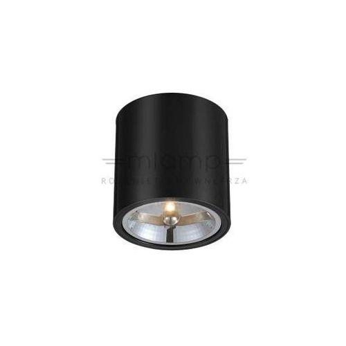 Orlicki design Spot lampa sufitowa neo nero metalowa oprawa downlight tuba czarna