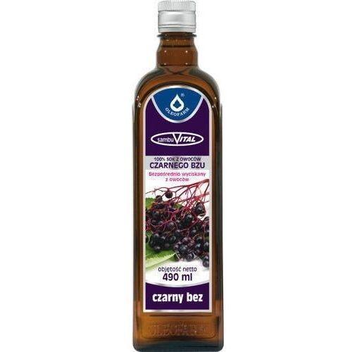 Sambuvital czarny bez 100% sok z owoców czarnego bzu 490ml marki Oleofarm