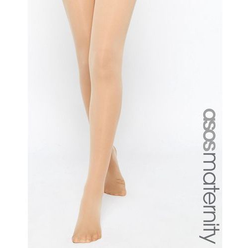 new improved fit 50 denier nude tights in light beige - beige, Asos maternity