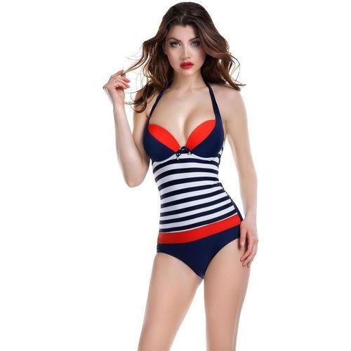 Kostium Jednoczęściowy Model Pamela I Navy/Red