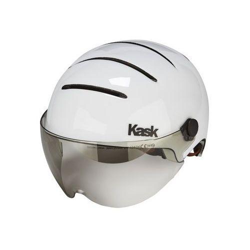 Kask Lifestyle Kask rowerowy dodatkowo wizjer biały 51-58 cm 2018 Kaski miejskie i trekkingowe (8057099023207)