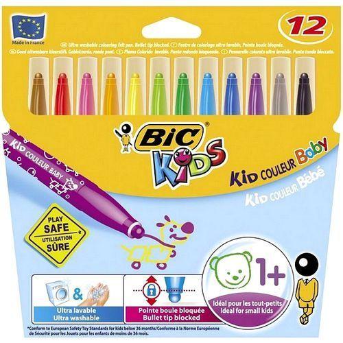 Flamastry kids kid colour baby 12 kolorów 902080 marki Bic
