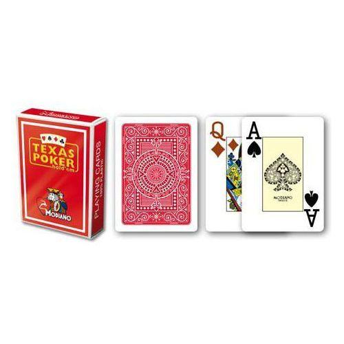 2 rogi 100% karty plastikowe - czerwone marki Modiano