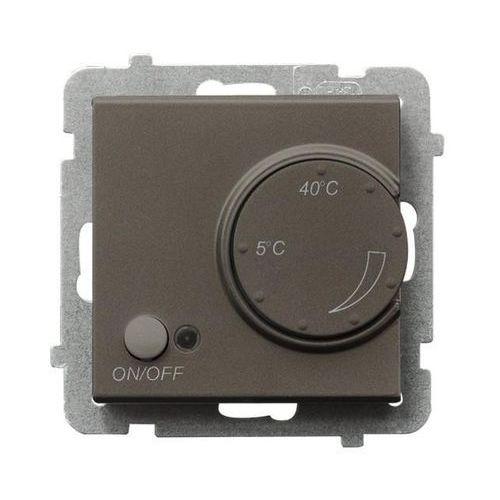 Regulator temperatury Ospel Sonata RTP-1RN/M/40 z czujnikiem napowietrznym czekoladowy metalik
