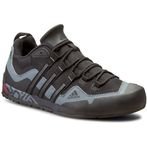 OKAZJA - Buty adidas - Terrex Swift Solo D67031 Black1/Black1/Lead, kolor czarny