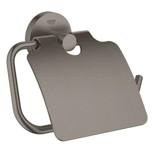 Grohe uchwyt na papier toaletowy, czarny mat Essentials 40367AL1