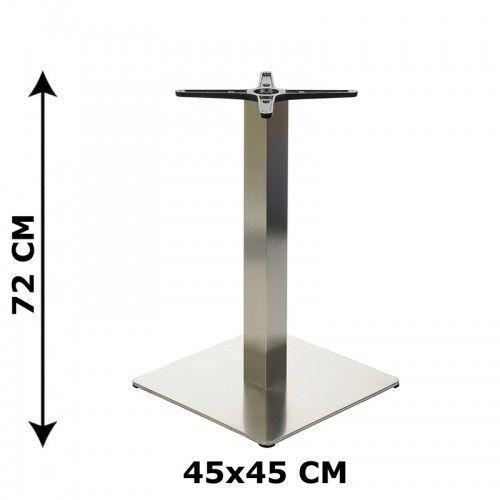 Stema - od Podstawa stolika 45x45, stal nierdzewna polerowana lub szczotkowana( stelaż stolika) - e78/45/p/s