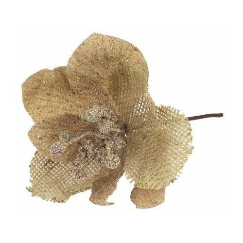 Kwiat sztuczny na piku 24 cm beżowy (5907556714762)