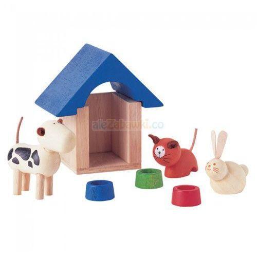 Zwierzątka domowe z akcesoriami, Plan Toys PLTO-7314