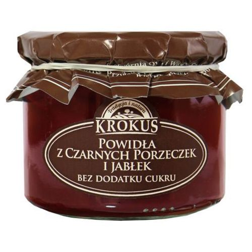 Krokus 310g powidła z czarnych porzeczek i jabłek bez dodatku cukru tradycyjna receptura