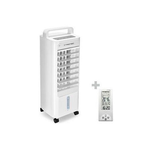 Trotec Aircooler, klimatyzer, wentylator, nawilżacz powietrza pae 12 + termohigrometr stacja pogodowa bz06 (4052138106785)