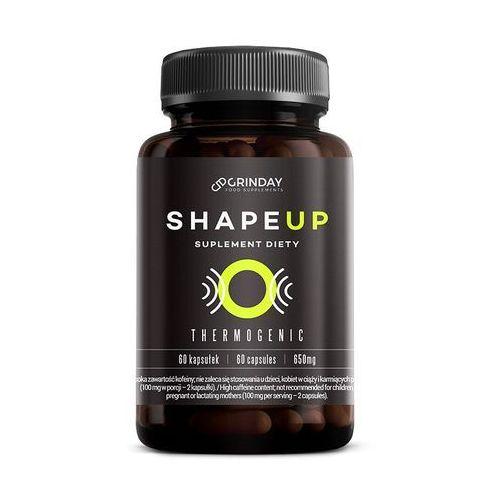 Grinday Shape up - termogeniczny spalacz tłuszczu. garcinia cambogia, guarana, pomarańcza gorzka, pokrzywa indyjska, papryka roczna, kofeina bezwodna, l-karnityna, l-tyrozyna (5907222927007)
