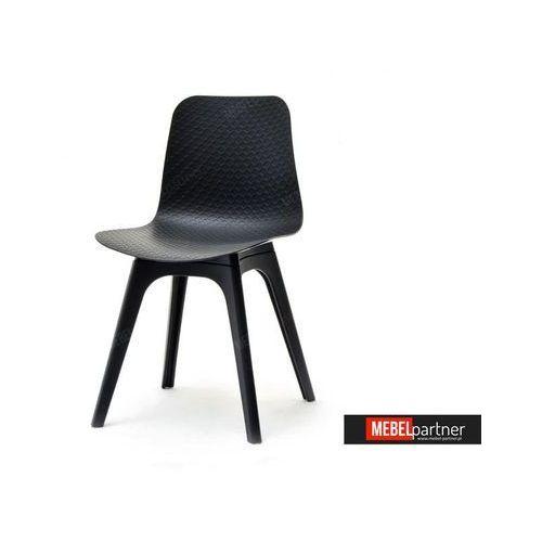 DESIGNERSKIE KRZESŁO Z TWORZYWA CARO DSX CZARNE z kategorii Krzesła