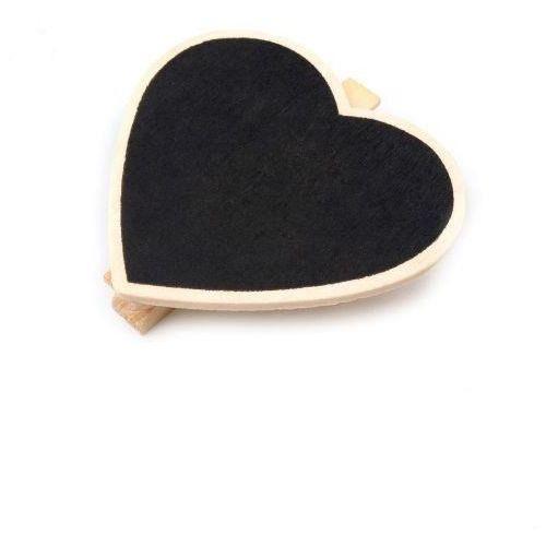 Drewniana tabliczka z klamerką - serce - serce marki Creativehobby