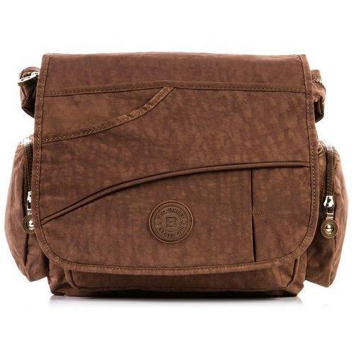 Bag street Sportowa listonoszka torebka damska na ramię brązowa - brązowy