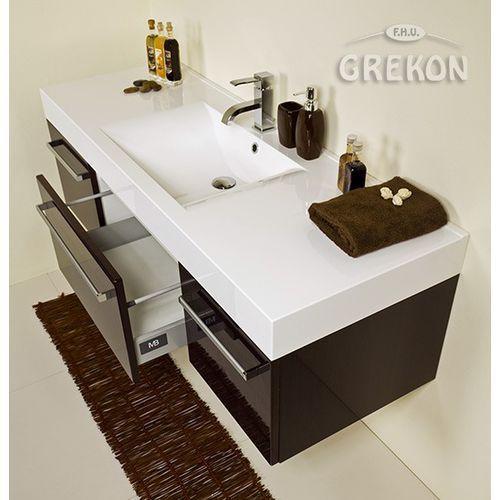 Gante Szafka łazienkowa z umywalką 140/50/c fokus wenge połysk