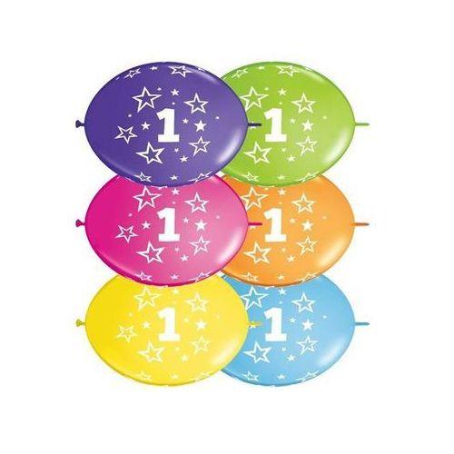 Go Girlanda balonowa z nadrukiem cyfra 1 - 300 cm - 1 kpl - 10 szt. balonów