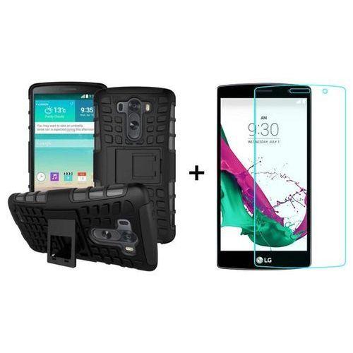 Zestaw Pancerna obudowa etui Perfect Armor Czarny + Szkło ochronne Perfect Glass LG G4S / LG G4 Beat
