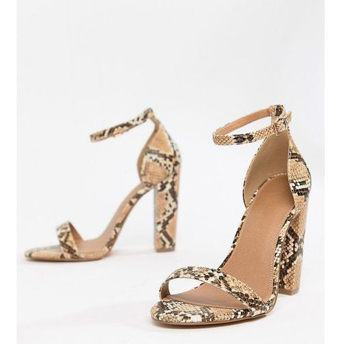 Asos design wide fit highball barely there heeled sandals - multi
