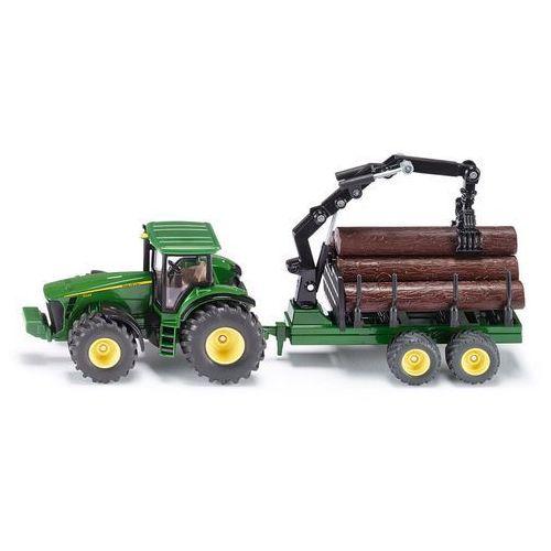 Siku  farmer - traktor z przyczepą leśną (4006874019540)