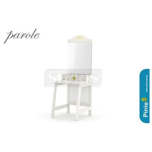PINIO Parole Toaletka MDF biała - zielony uchwyt - 016-506-113 z kategorii Pozostałe