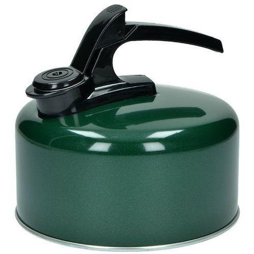 czajnik emaliowany z gwizdkiem 2l zielony - zielony marki Highlander