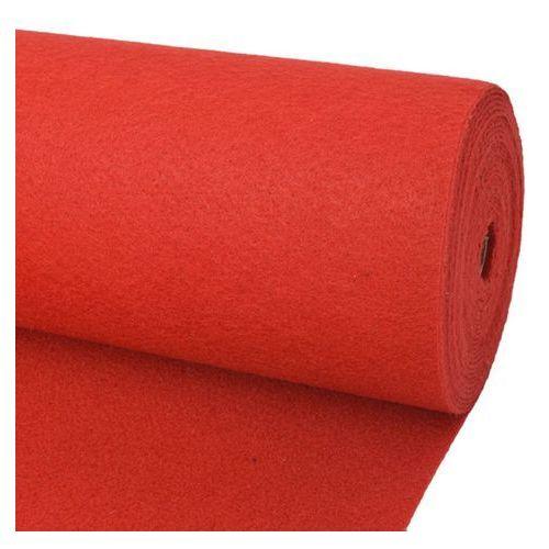 vidaXL Wykładzina targowa 2x12 m, czerwona (8718475998693)
