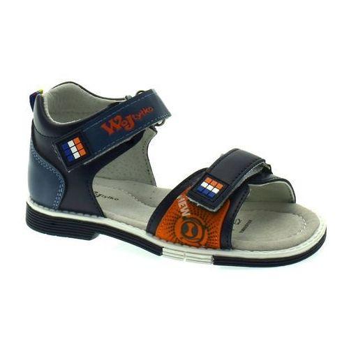Sandały dla dzieci Wojtyłko 2520 Granatowe - Granatowy, kolor niebieski