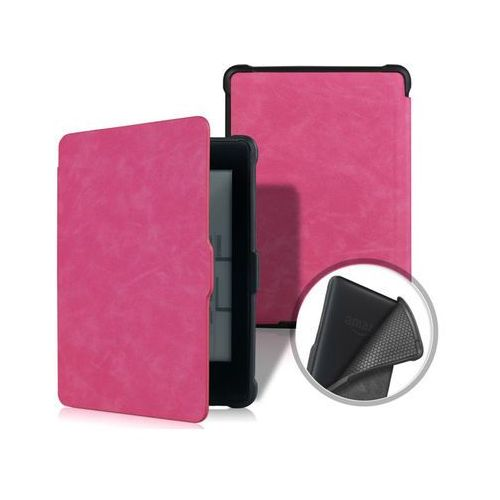 Etui Alogy TPU smart case Kindle Paperwhite 1/2/3 Różowe - Różowy