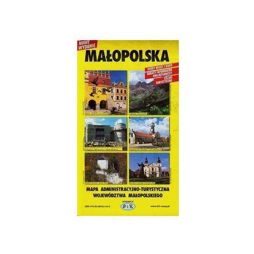 Małopolska mapa administracyjno-turystyczna województwa małopolskiego (9788376182063)