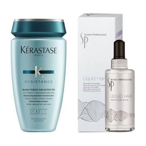 Kerastase force architecte bain and sp liquid hair   zestaw do regeneracji włosów: kąpiel 250ml + serum 100ml