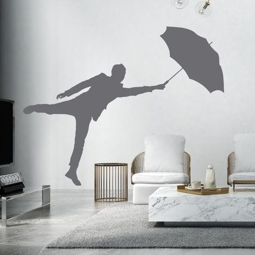 Szablon do malowania mężczyzna z parasolem 2399 marki Wally - piękno dekoracji