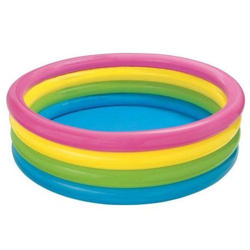 Intex Basen dmuchany tęcza 4 pierścienie 168 x 46 cm 56441
