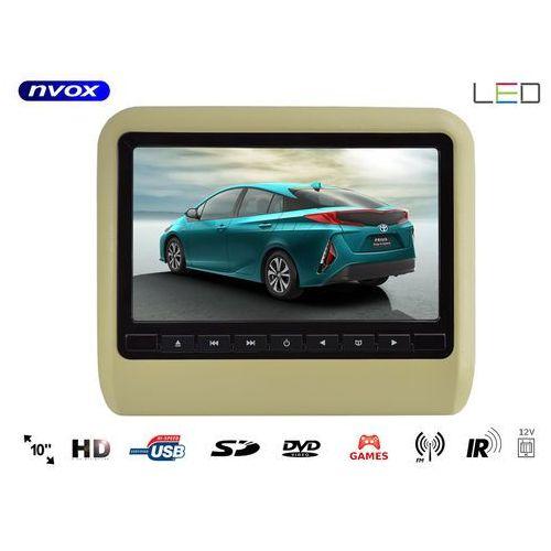 """Monitor samochodowy zagłówkowy LED 10"""" HD z DVD USB SD IR FM GRY (5909182422943)"""