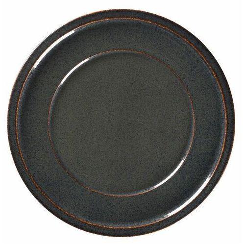 Talerz porcelanowy płytki STONE śr. 24 cm grafitowy