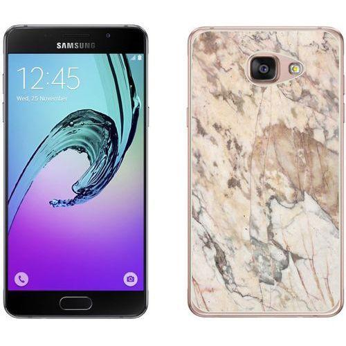 Samsung Galaxy A3 2017 - etui na telefon - Kolekcja marmur - marble beż - H19
