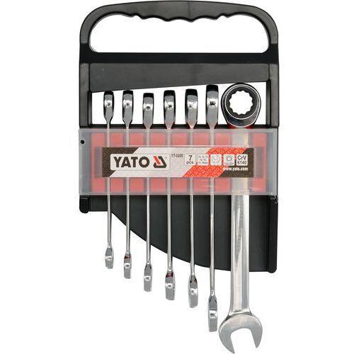 Zestaw kluczy płasko-oczkowych yt-0208 10 - 19 mm z grzechotką (7 elementów) marki Yato